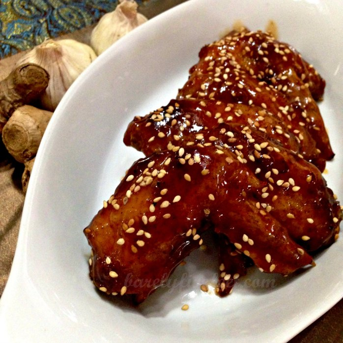 sweet and spicy honey chicken wings