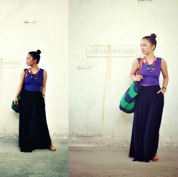 male city palazzo pants cropped top