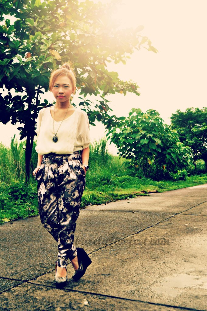 printed harem pants apartment 8