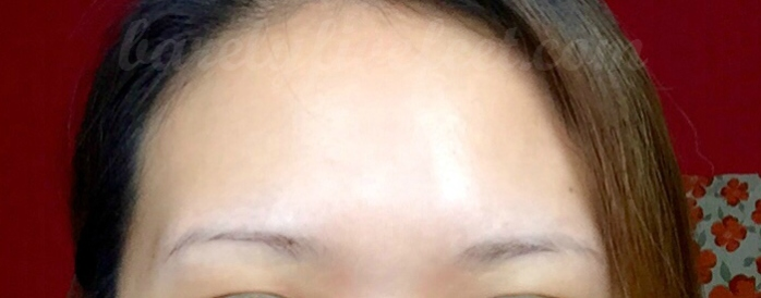 My eyebrows before the procedure: barely there :P